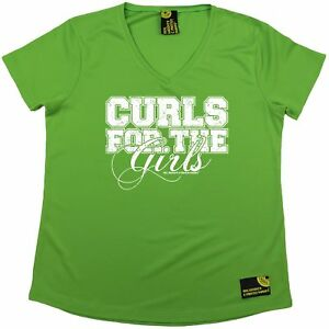 SWPS Curls For The Girls Dry Fit Sports V- NECK T-SHIRT