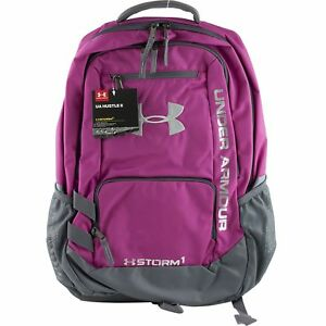 Under Armour Storm Hustle II School Backpack Book Bag Girls Pink Gray