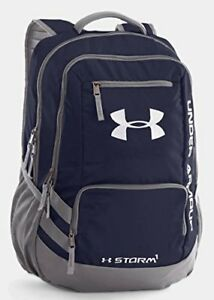 Under Armour UA Team Hustle Backpack Midnight Navy  Graphite  Silver One Size