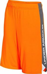Under Armour Boy s Eliminator Shorts - Traffic Cone Orange Youth Small