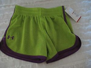 Under Armour toddler 3t athletic gym shorts new with tags lime and purtple