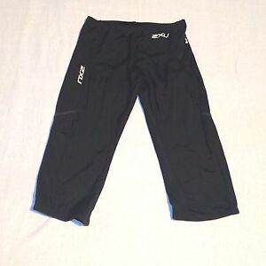 2XU Womens Compression Shorts M Bicycle Triathlon 34 Running Athletic Pocket