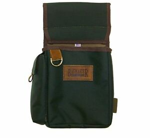 Bagmaster Divided Shotshell Pouch with Adjustable Belt - Hunter Green