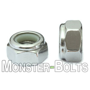 Stainless Steel Nylon Insert Hex Lock Nuts 4-40 5-40 6-32 8-32 10-32 1/4-20 5/16