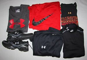 Boy's Lot Under Armour Nike Shirts shorts Sweatpants Shoes Size XLL shoes 6