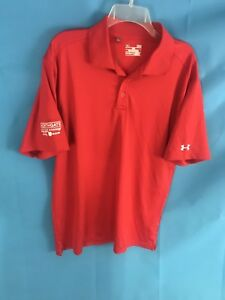 Under Armour Golf Polo shirt Red  Northgate Jeep Dodge Ram Logo UA Large L