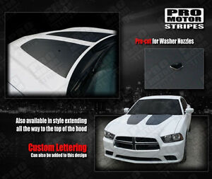Dodge Charger Hood Accent Blackout Stripes Decals 2011 2012 2013 2014 Pro Motor