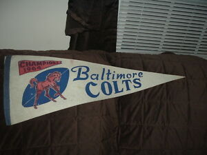 1964 Baltimore Colts Football Champions Full Size Pennant
