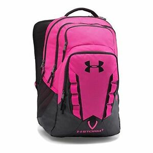 NEW Under Armour Storm Recruit Backpack Imported Tropic PinkBlack One Size