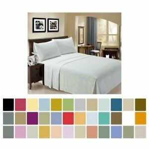 Bamboo Sheet Set 4 pc by LuxClub Full Queen King California King 30 Colors