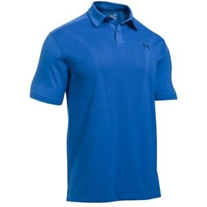 NEW Under Armour ThreadBorne Polo Marker Blue XL Golf Shirt