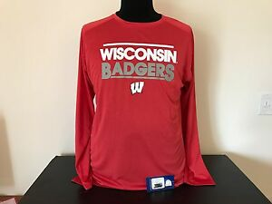 Wisconsin Badgers Dry Fit Shirt Long Sleeve (NEW)