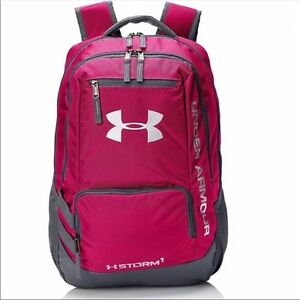 Under Armour Storm Hustle II Backpack - Pink and Grey - 31L