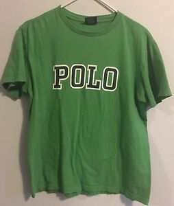 VINTAGE Ralph Lauren POLO SPELLOUT shirt Small 1990s 90s BEAR p Wing 92 Sport