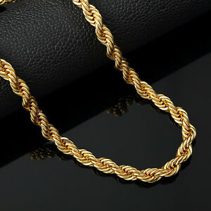 Italian made 4mm 24inch 14k Gold rope chain $23.99