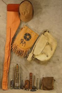 Vintage Muzzle Loader Black Powder Hunting Gear Bags Cover Tools