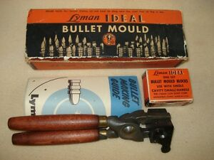 LYMAN IDEAL BULLET MOULD .451 ROUND BALL WITH HANDLES IN ORG BOX