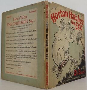 DR. SEUSS Horton Hatches the Egg INSCRIBED EARLY PRINTING
