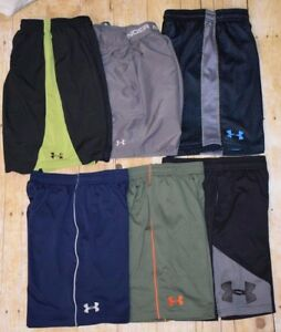 Under Armour Boys (Lot of 6) Sports Shorts Size M Youth GUC FREE SHIPPING