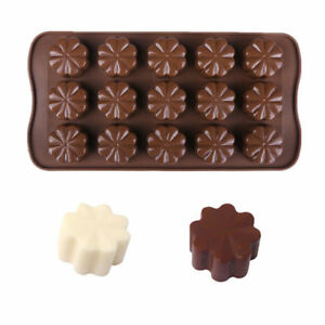 3 Pack X Flower Clover Silicone Ice Chocolate Pan Tray Candy Cookie Baking Mold $6.99