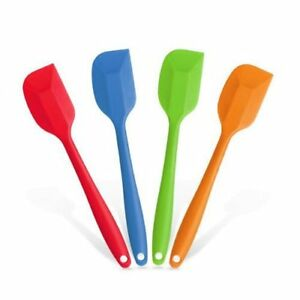 Silicone Spatulas Heat Resistant Cake Mixing Large Spatula 2 pcs Set Flexible