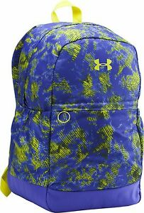 Under Armour Youth Girls Favorite Backpack Purple Yellow NWT $28.50