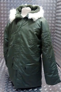 US N3B Military Style ECW Snorkel Parka Green MODScooterBikers - All Sizes NEW