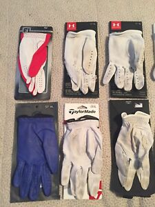 Men's Golf Gloves Left Hand XL Used Under Armour Taylormade Footjoy Gfore