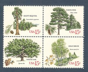1764-67 American Trees Block Of 4 Mintnh (Free Shipping)