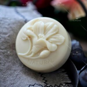 Great-Mold Round Silicone Soap Mold Flower Silicone Mould for Natural Soap