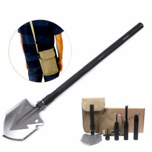 13 in1 Military  Folding Camping Shovel Utility Outdoor Survival Gear Tools Gold
