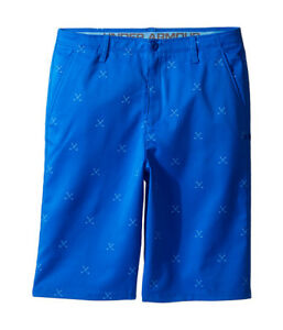 Under Armour Match Play Printed Boys' Golf Shorts Size 12 Color: Ultra Blue