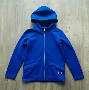 Under Armour Girls Infrared Loose Fit Jacket Hoodie Blue Youth Medium YMD
