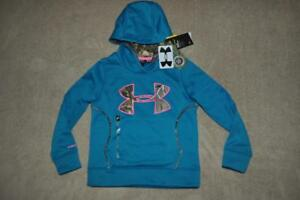 Under Armour Caliber Girls Hunting Hoodie 1271623 932 TealPink Size Small NWT