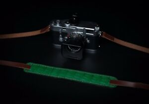 Exotic alligator leather camera strap.  Fits Leica Sony Fuji film and more.