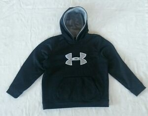black Under Armour hoodie sweatshirt pullovertummy pocketboy girl youth YXL