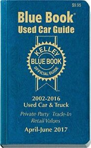 Kelley Blue Book Guide Used Car Track: Private Party Trade-In Retail Values 2017