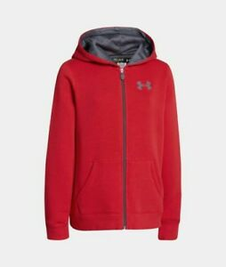 Boys Under Armour Rival Full Zip Hoodie Size YL