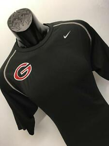 Mens Nike Pro Team Dri-Fit UGA Black Shirt Size L Georgia Bulldogs Dawgs Gym I60
