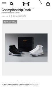 "Under Armour Curry 4 ""More Rings"" Championship Pack Size 11.5"