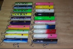 10 Lures 2oz Pick Any 10 Colors Saltwater Popper Plug Lure Bluefish Topwater N