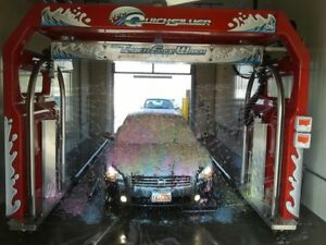 Automatic Car Wash Red 2007 D&S Quicksilver Great Condition Rails 35 feet long