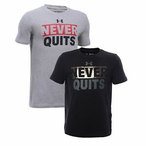 Under Armour 1299467 Kids Never Quit T Shirt NWT $9.99