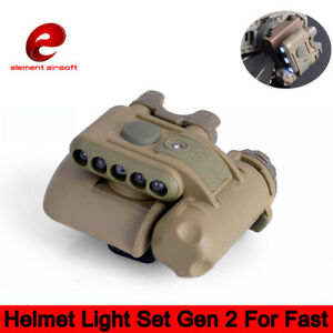 Element Tactical Helmet Light Set Gen 2 White Red IR Led Gen II Hunting Lamp