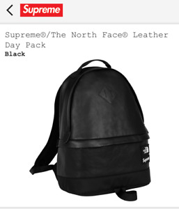 Supreme The North Face Leather Day Pack Backpack Black TNF FW17 Supreme New York