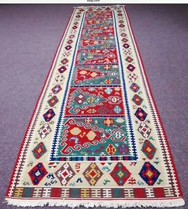 "Vintage Turkish Kilim Rug 160"" X 42"" Rug Runner Hall Corridor Hallway Carpet"