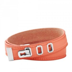 Fossil Jewellery Women's Leather Wrist Band JF00316040 Coral Salmon jf00316