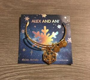 Alex And Ani Limited Edition Snowflake Shiny Gold. $23.00