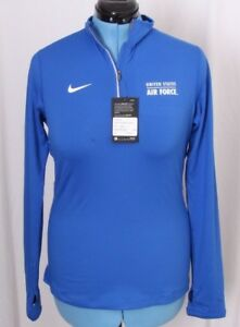 Nike Dri-Fit Dry USAF Air Force Element 14 Zip Pullover Jacket Shirt Women's M