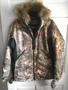 Under Armour Women's RealTree Xtra Storm2 Water & Wind Resistant Faux Fur Coat